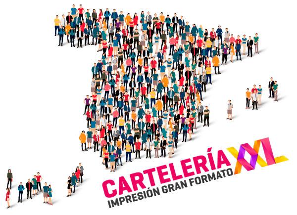 Cartelería personalizada Jaén imprenta barata gran formato online