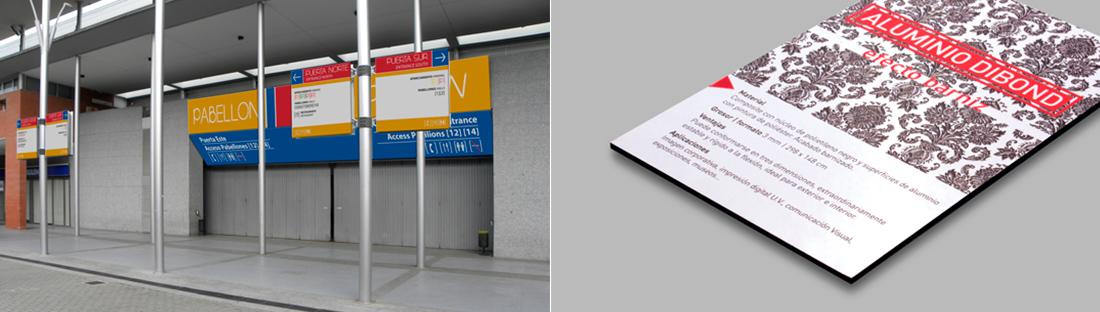 Cartelería en aluminio dibond | Carteles XXL - Impresión carteleria publicitaria