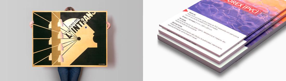 Cartelería en Forex PVC | Carteles XXL - Impresión carteleria publicitaria