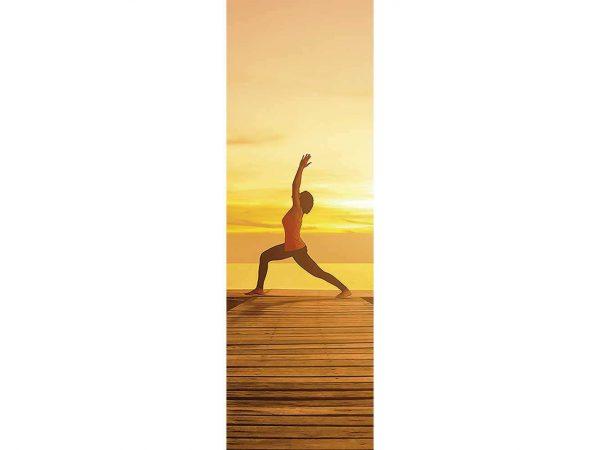 Cenefa Vertical Yoga al Atardecer | Carteles XXL - Impresión carteleria publicitaria