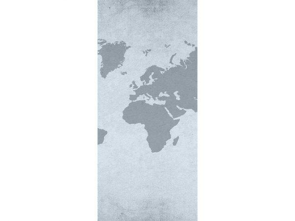 Cenefa Vertical Mapamundi Gris   Carteles XXL - Impresión carteleria publicitaria