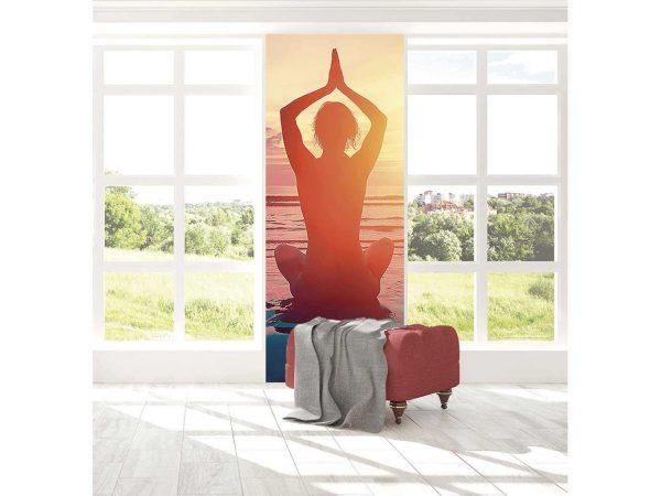 Cenefa Vertical Meditación en la  Playa | Carteles XXL - Impresión carteleria publicitaria