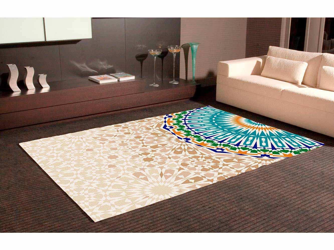 Alfombra PVC Mosaico Marrón Circular | Carteles XXL - Impresión carteleria publicitaria