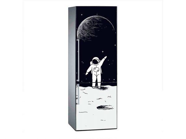 Vinilo Frigorífico Astronauta Luna | Carteles XXL - Impresión carteleria publicitaria