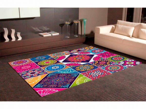 Alfombra PVC Mosaico Geometría Colorida | Carteles XXL - Impresión carteleria publicitaria