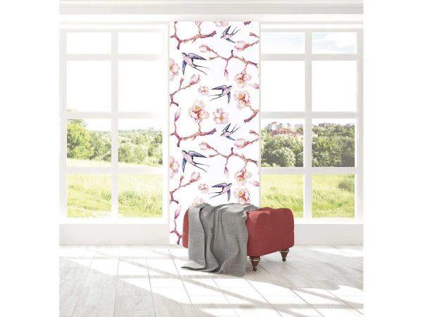 Cenefa Vertical Almendros y Gorriones | Carteles XXL - Impresión carteleria publicitaria