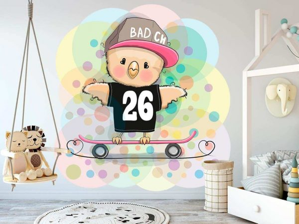 Vinilo Infantil Pajaro Skate | Carteles XXL - Impresión carteleria publicitaria