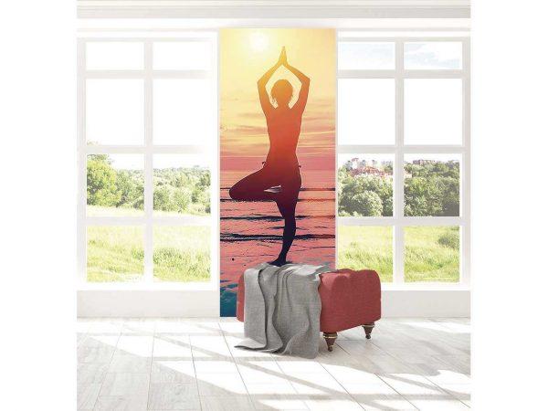 Cenefa Vertical Postura de Yoga | Carteles XXL - Impresión carteleria publicitaria