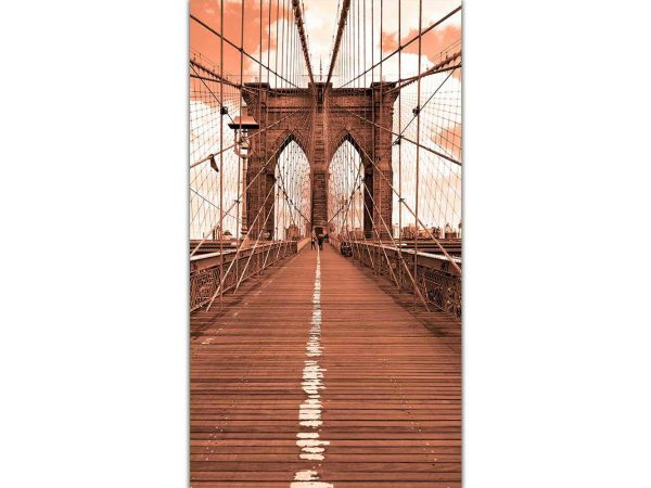 Cenefa Vertical Puente en Sepia | Carteles XXL - Impresión carteleria publicitaria
