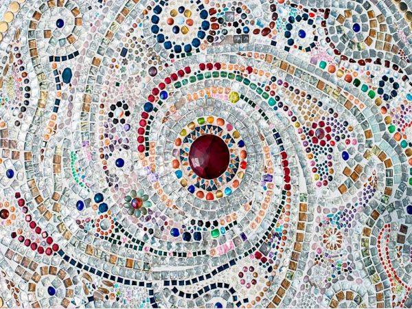 Alfombra PVC Mosaico Romano Espiral | Carteles XXL - Impresión carteleria publicitaria