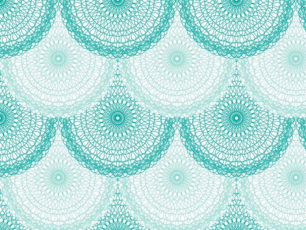 Alfombra PVC Mandala Circular Azul | Carteles XXL - Impresión carteleria publicitaria