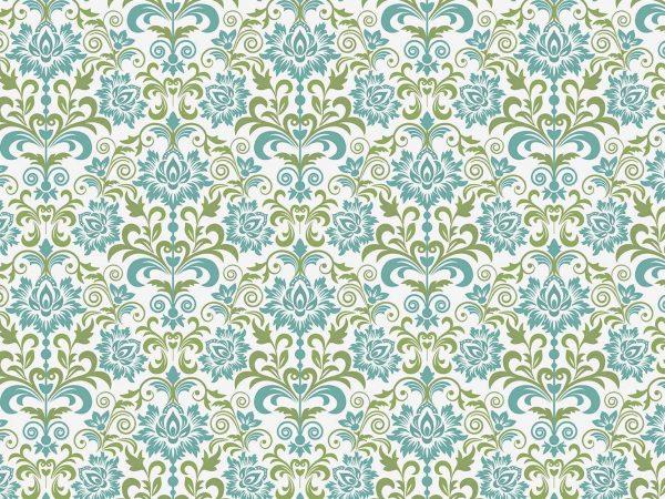 Fotomural Papel Pintado Clasico Floral Verde | Carteles XXL - Impresión carteleria publicitaria
