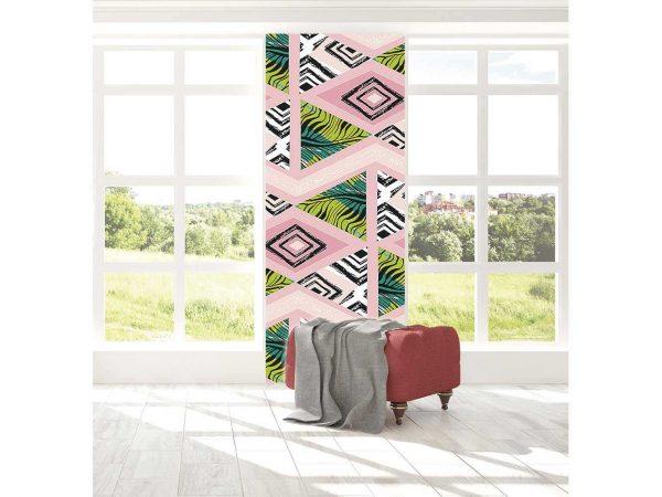 Cenefa Vertical Rombos Abstractos | Carteles XXL - Impresión carteleria publicitaria