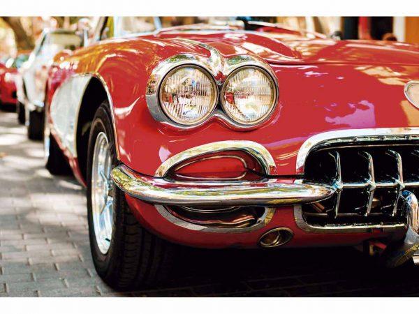 Fotomural Papel Pintado Coche Vintage Rojo | Carteles XXL - Impresión carteleria publicitaria