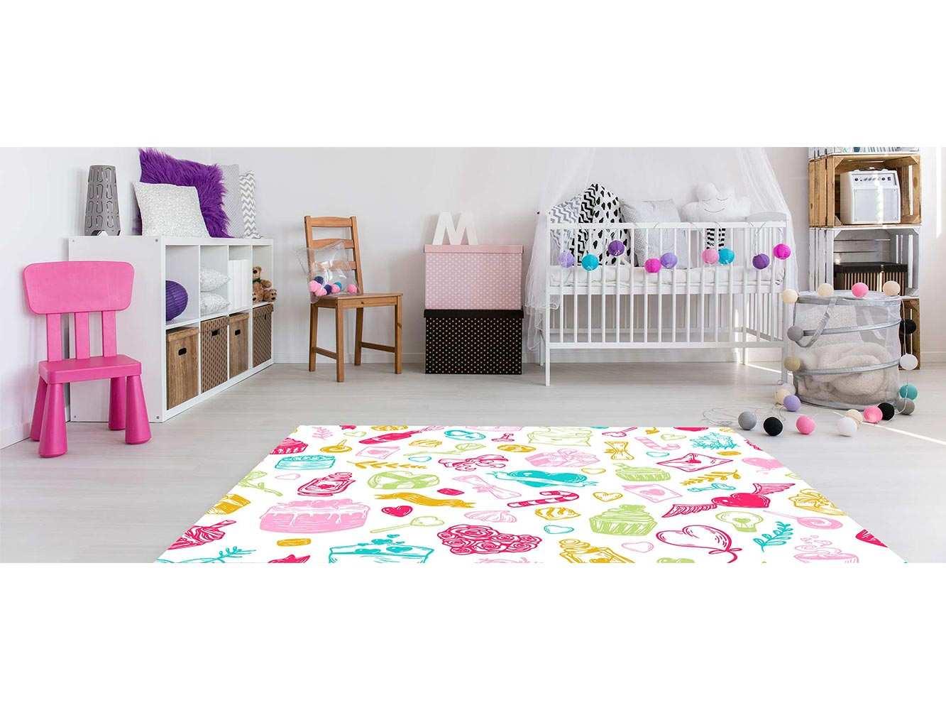Alfombra PVC Infantil Caramelos Dulces | Carteles XXL - Impresión carteleria publicitaria