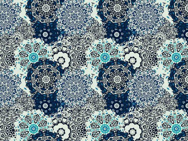 Fotomural Papel Pintado Clasico Circular Azul | Carteles XXL - Impresión carteleria publicitaria