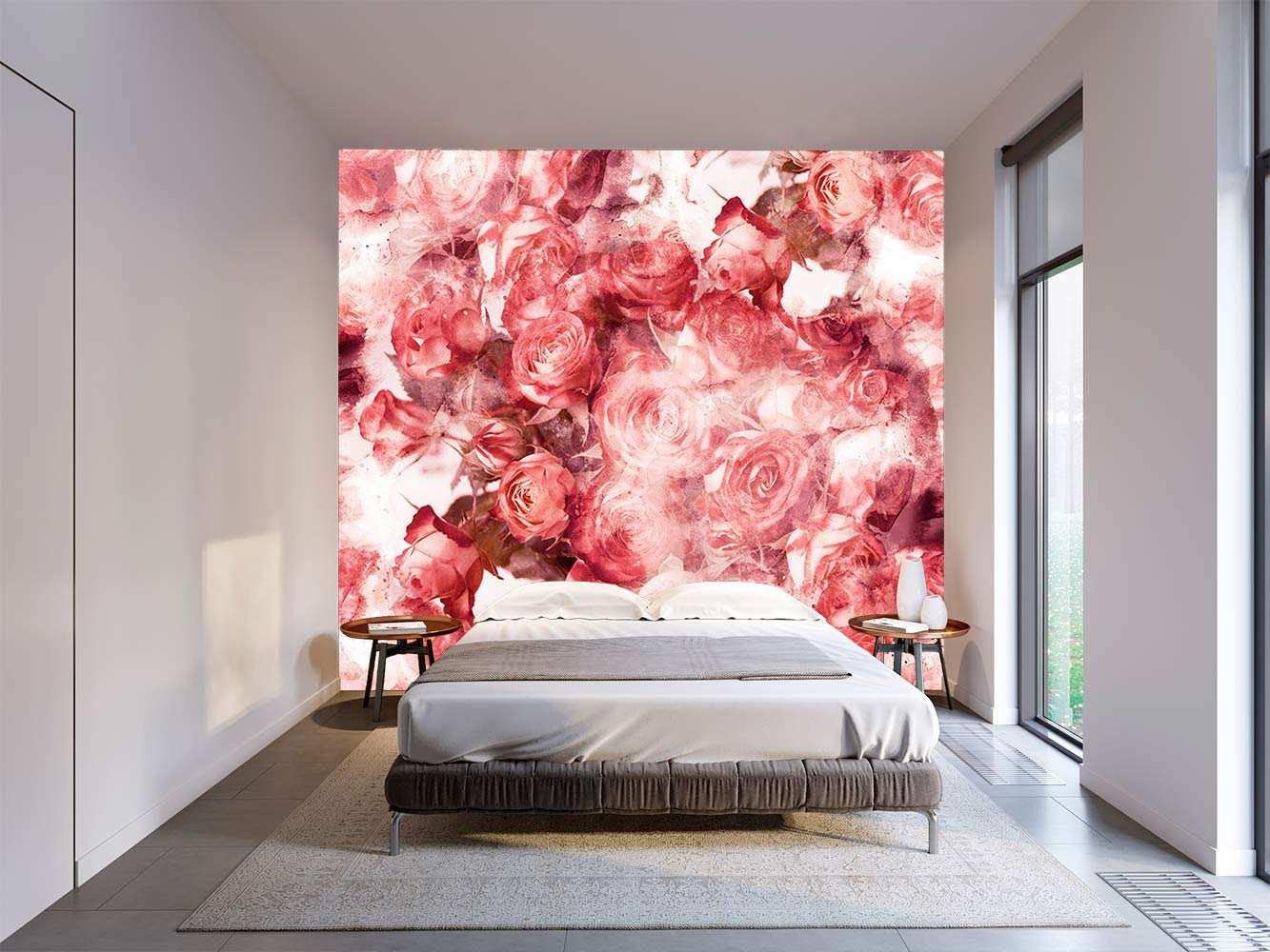 Fotomural Vinilo Floral Rosas Rojas | Carteles XXL - Impresión carteleria publicitaria