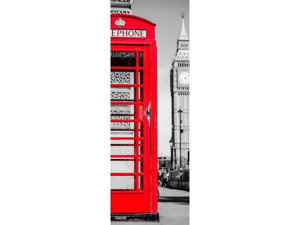 Vinilo Frigorífico Cabina Teléfono Roja | Carteles XXL - Impresión carteleria publicitaria
