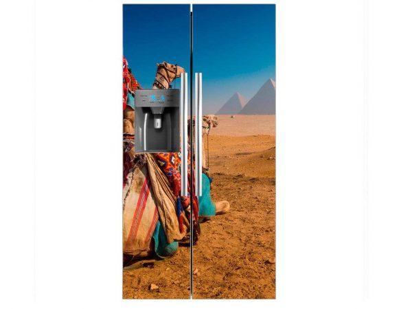 Vinilo Frigorífico Camellos Pirámides | Carteles XXL - Impresión carteleria publicitaria