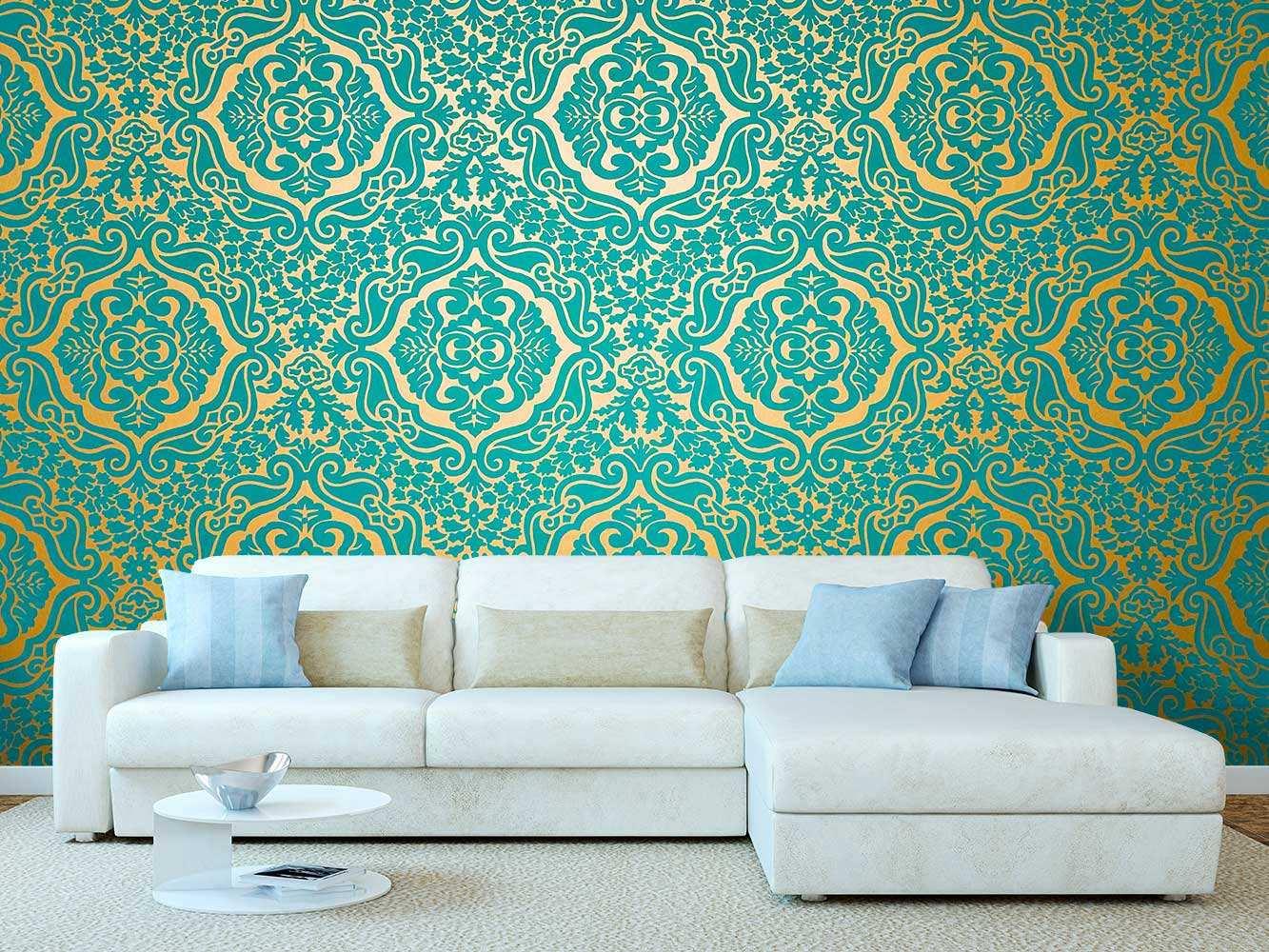 Fotomural Papel Pintado Elegante Floral Verde | Carteles XXL - Impresión carteleria publicitaria