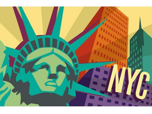 Alfombra PVC Estatua Libertad NYC | Carteles XXL - Impresión carteleria publicitaria