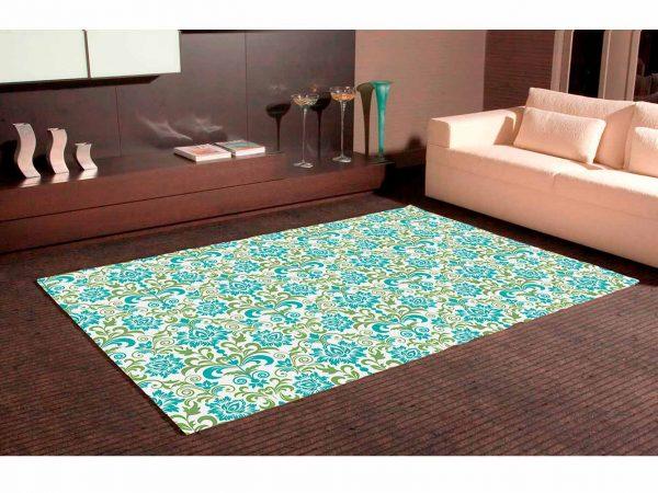 Alfombra PVC Cenefa Floral Bicolor | Carteles XXL - Impresión carteleria publicitaria