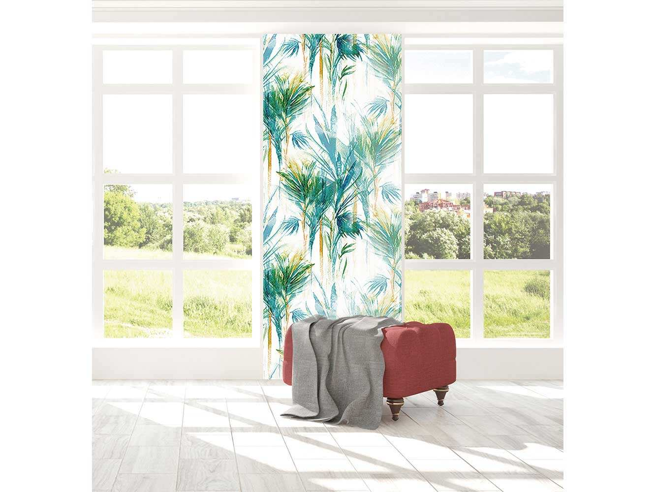 Cenefa Vertical Hojas Tropicales | Carteles XXL - Impresión carteleria publicitaria