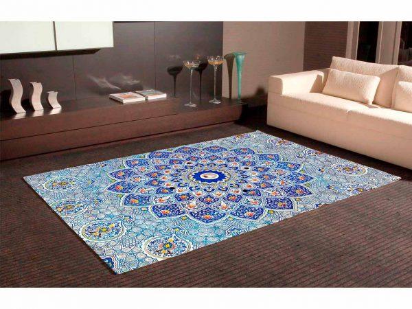 Alfombra PVC Gran Mandala Azul | Carteles XXL - Impresión carteleria publicitaria