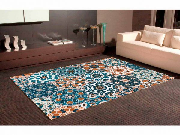 Alfombra PVC Geometría Hexagonal Clásica   Carteles XXL - Impresión carteleria publicitaria