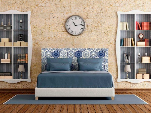 Cabecero Cama Mosaico Azul   Carteles XXL - Impresión carteleria publicitaria