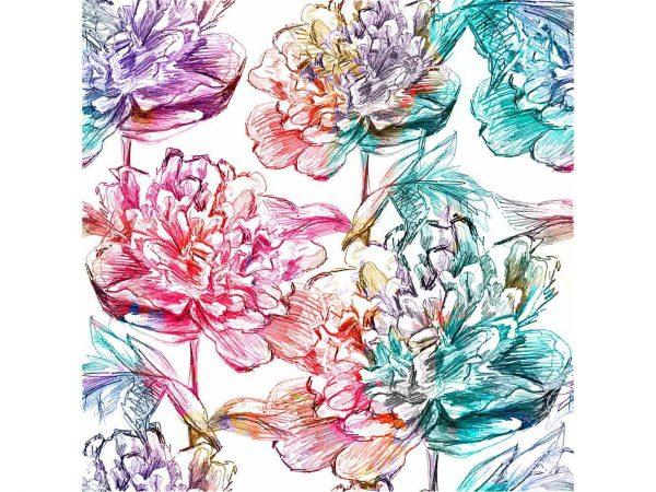 Cabecero Cama Rosas Coloridas | Carteles XXL - Impresión carteleria publicitaria