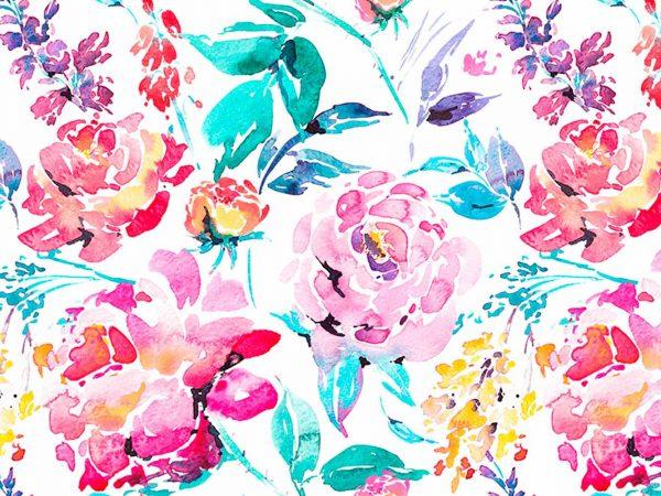 Alfombra PVC Flores Acuarela | Carteles XXL - Impresión carteleria publicitaria