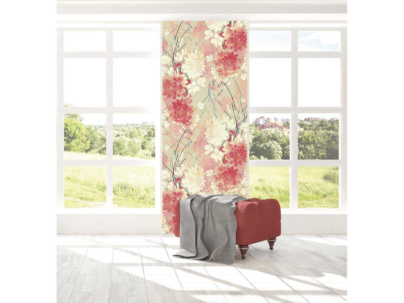 Cenefa Vertical Flores Rosadas | Carteles XXL - Impresión carteleria publicitaria