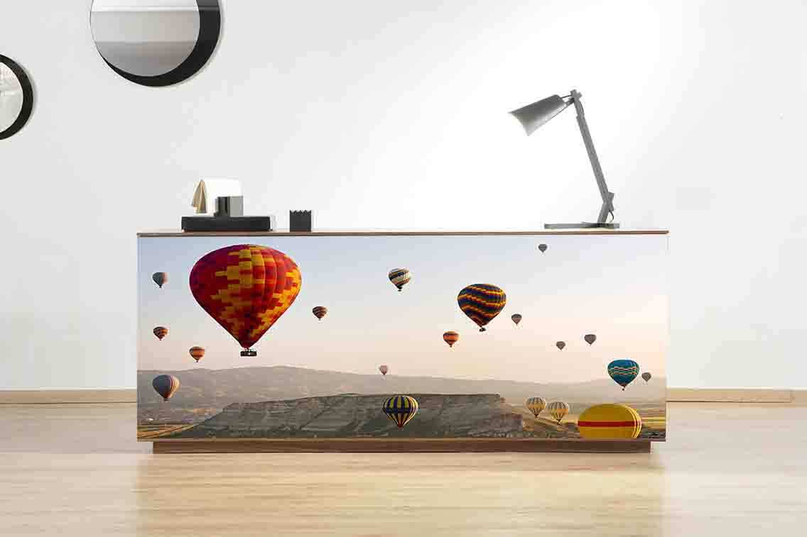 Vinilo Decorativo Mueble Globos | Carteles XXL - Impresión carteleria publicitaria