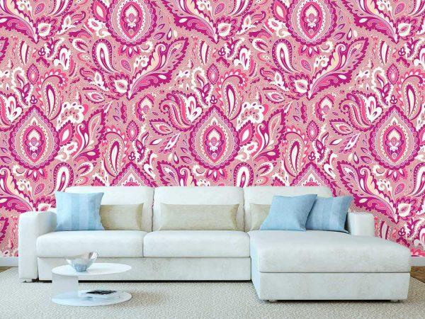 Fotomural Papel Pintado Flor Germinando Rosa | Carteles XXL - Impresión carteleria publicitaria
