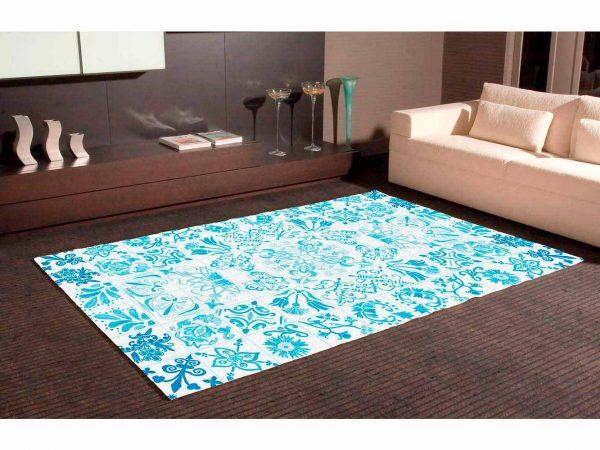 Alfombra PVC Mosaicos Modernos Azules   Carteles XXL - Impresión carteleria publicitaria