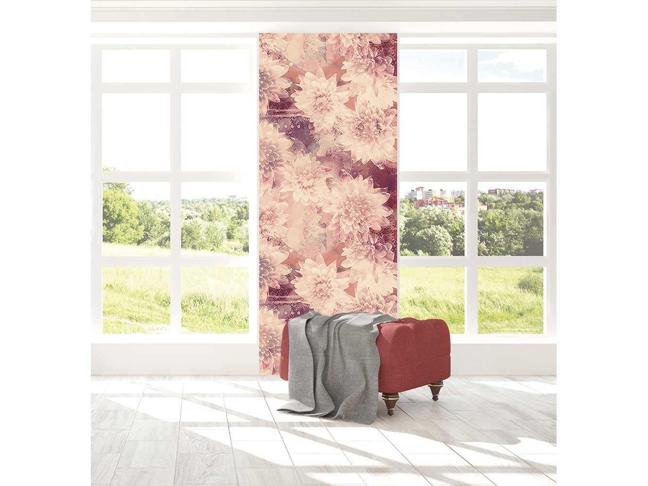 Cenefa Vertical Flores de Loto | Carteles XXL - Impresión carteleria publicitaria