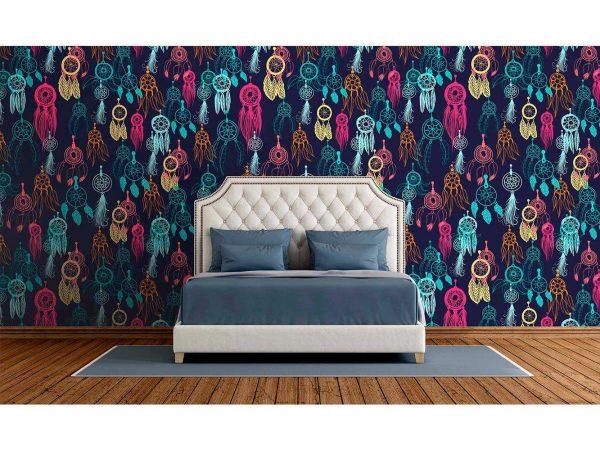 Fotomural Vinilo Zen Atrapasueños Multicolor | Carteles XXL - Impresión carteleria publicitaria