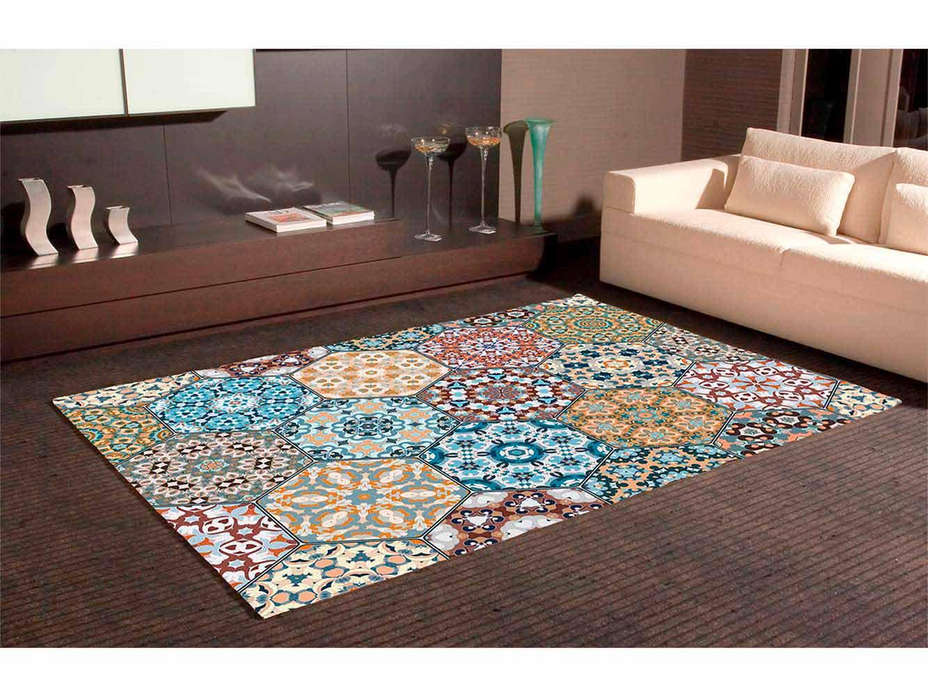 Alfombra PVC Mosaico Hexagonal Ornamental | Carteles XXL - Impresión carteleria publicitaria