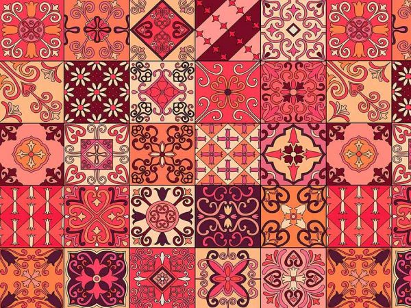 Alfombra PVC Mosaico Tulipán Rojo | Carteles XXL - Impresión carteleria publicitaria