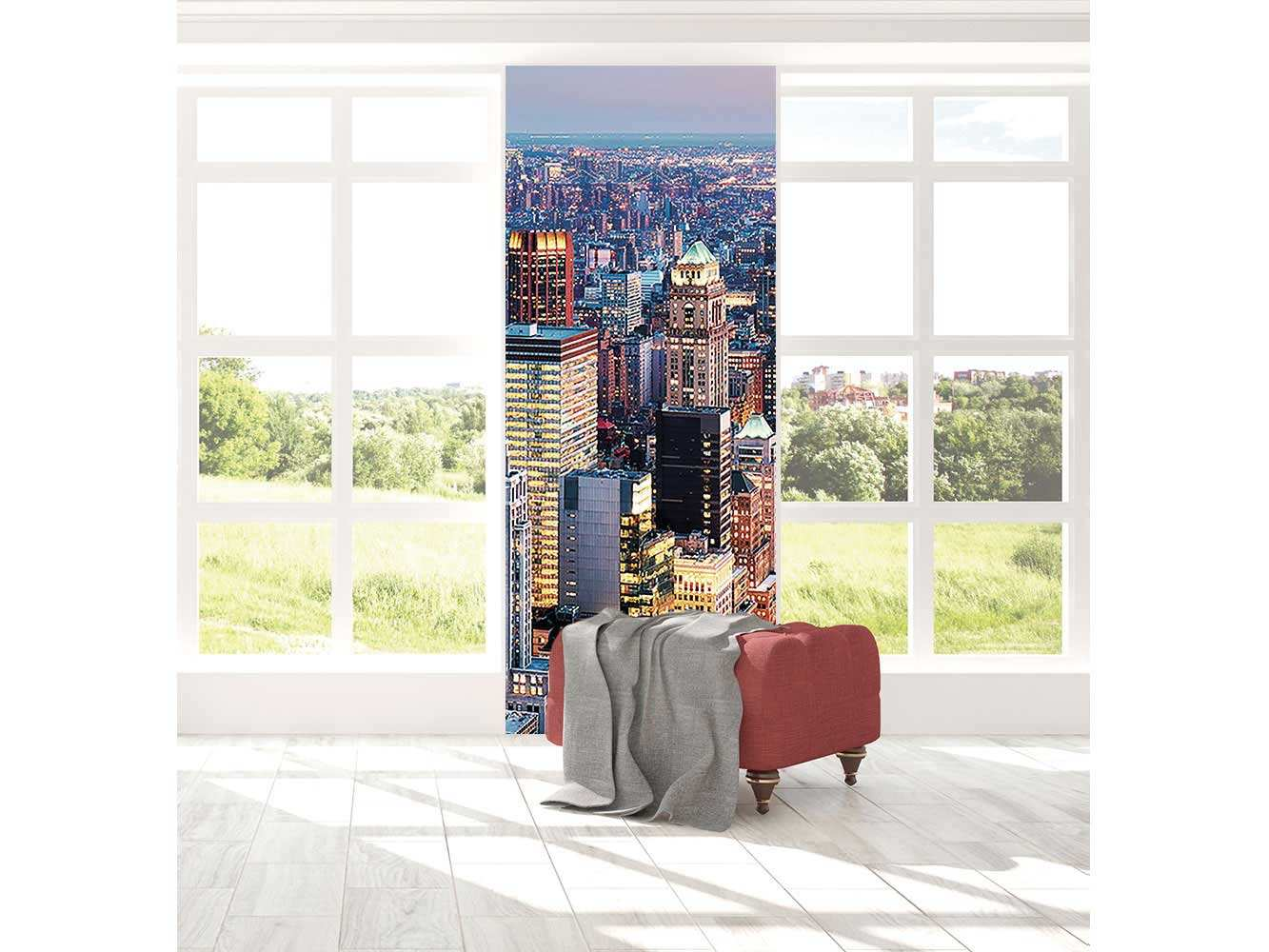 Cenefa Vertical Ciudad de Noche | Carteles XXL - Impresión carteleria publicitaria