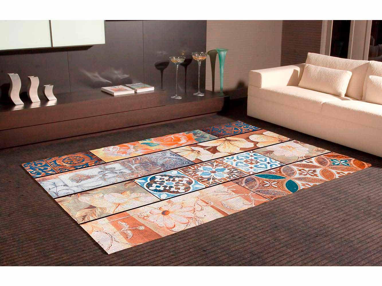 Alfombra PVC Mosaico Expresionista Floral | Carteles XXL - Impresión carteleria publicitaria