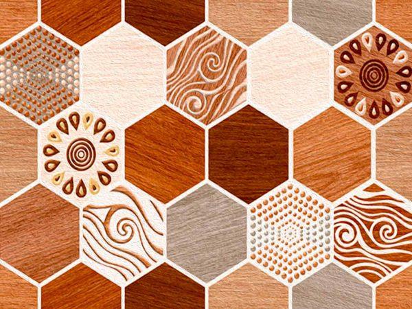 Alfombra PVC Geometría Tipo Artesanal | Carteles XXL - Impresión carteleria publicitaria