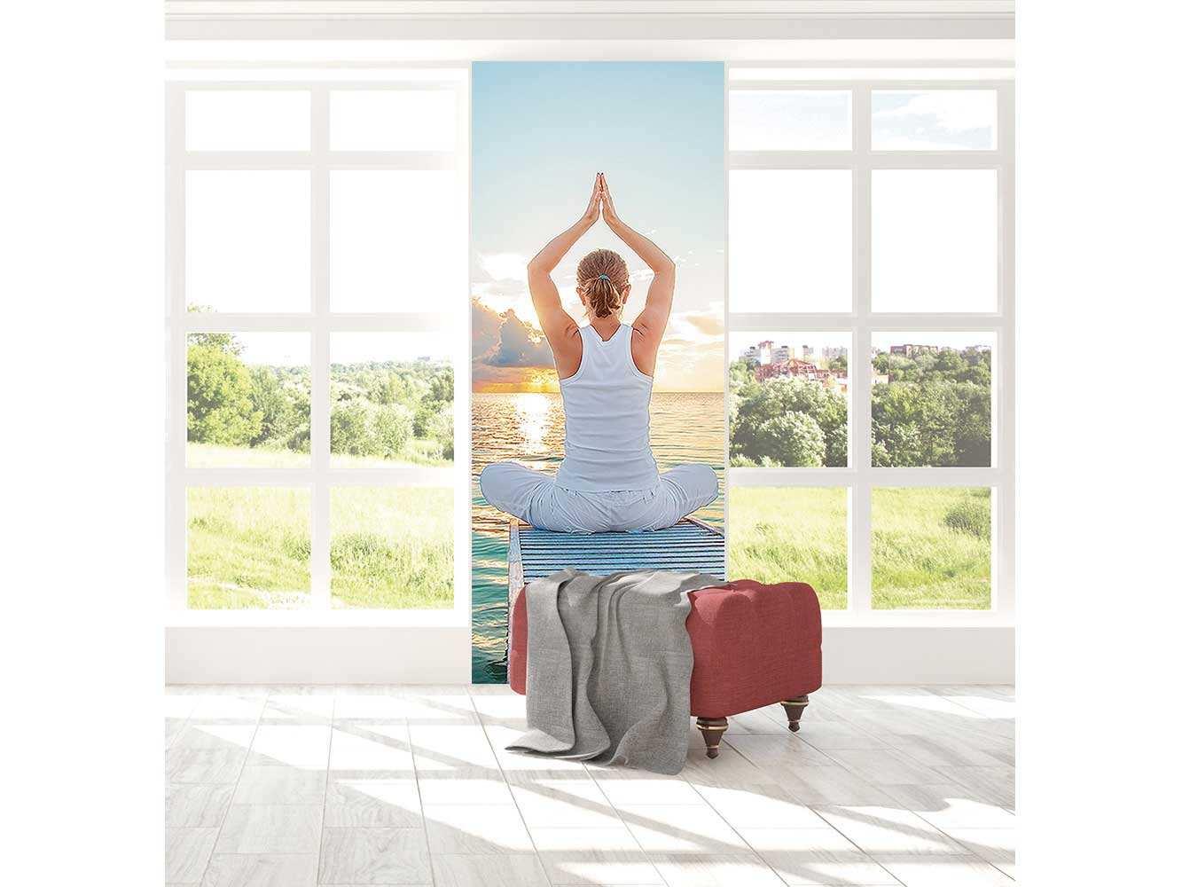 Cenefa Vertical Meditación en el Mar | Carteles XXL - Impresión carteleria publicitaria