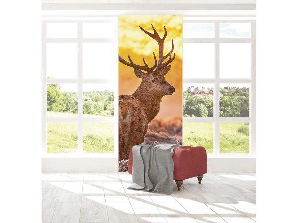 Cenefa Vertical Ciervo en Atardecer | Carteles XXL - Impresión carteleria publicitaria