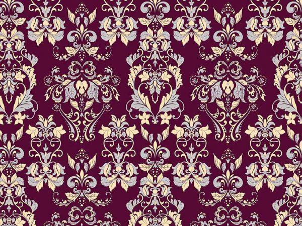 Alfombra PVC Estampado Clásico Floral Granate | Carteles XXL - Impresión carteleria publicitaria