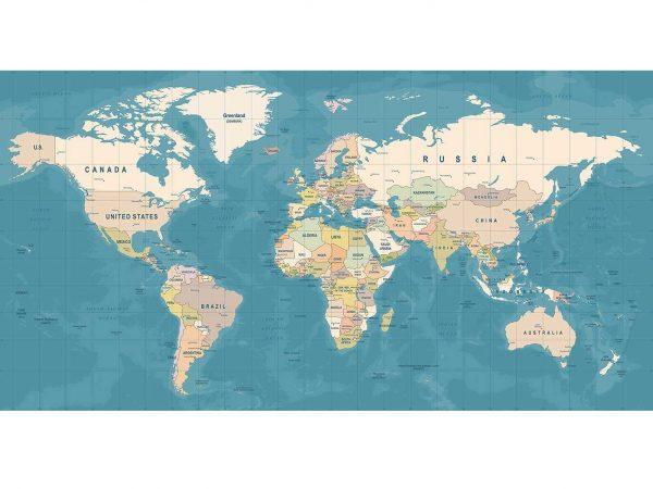 Fotomural Vinilo Mapamundi Tierra | Carteles XXL - Impresión carteleria publicitaria