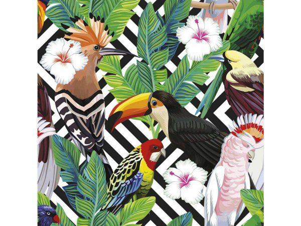 Fotomural Vinilo Pajaros Tropicales   Carteles XXL - Impresión carteleria publicitaria