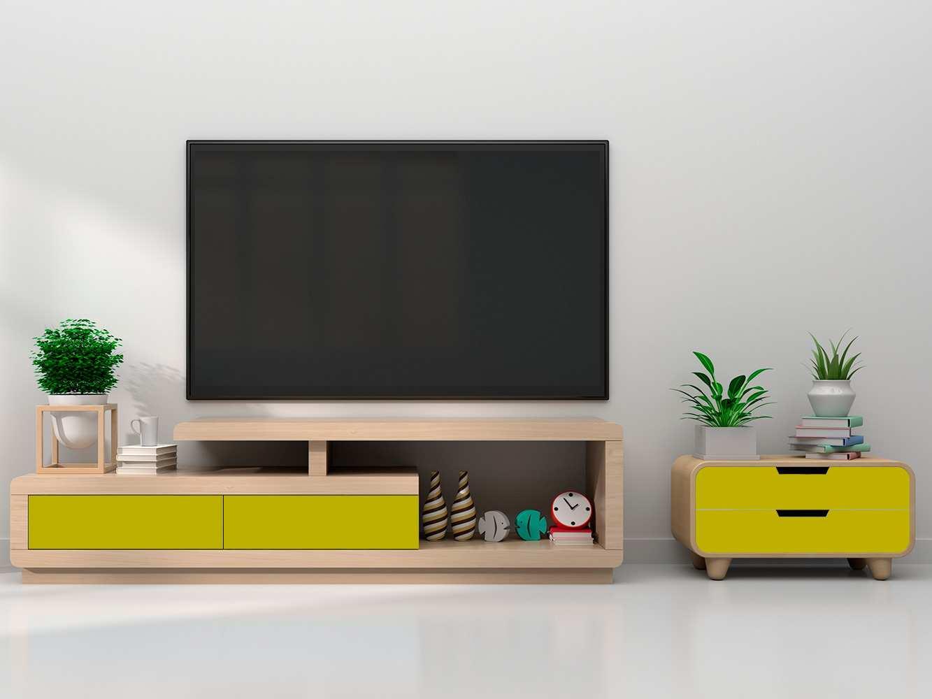 Vinilo Decorativo Mueble Amarillo Oscuro | Carteles XXL - Impresión carteleria publicitaria