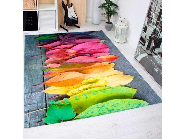 Alfombra PVC Hojas Colores | Carteles XXL - Impresión carteleria publicitaria